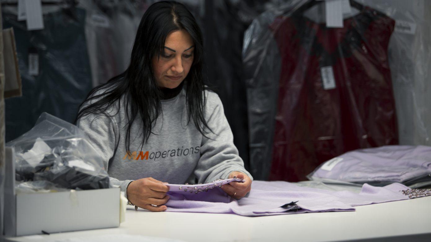 Controllo qualità industria tessile